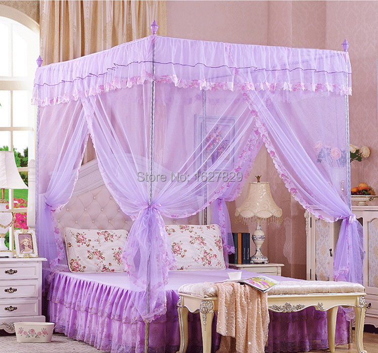 female canopy home palace curtains girl Mosquito Net lace princess Bed nets floor Student Account yarn three door double women-in Mosquito Net from Home ... & female canopy home palace curtains girl Mosquito Net lace princess ...
