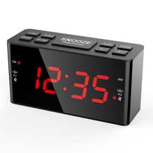 EURO external power supply LED digital clock Home and office Desktop small alarm clock big numbers display led alarm clock