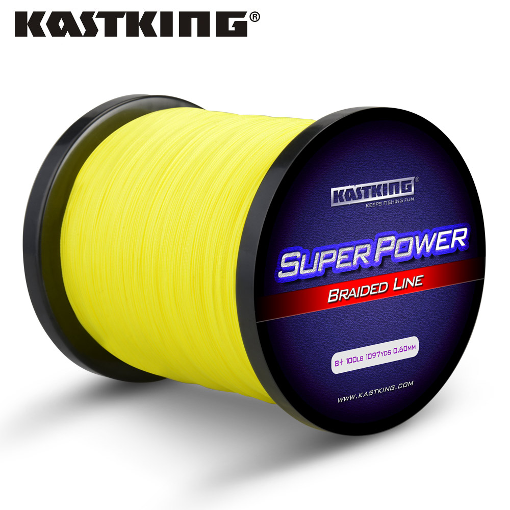 Kastking 8 strand braided fishing line yellow gray for Bulk braided fishing line