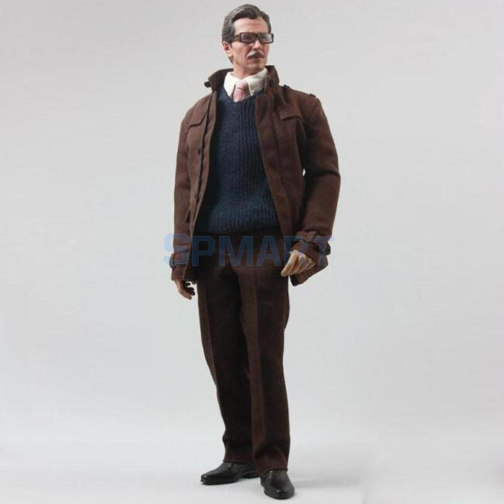 1 6 Scale Men s Outfits Clothing Full Set Accessories For 12 Police Chief Jim Gordon