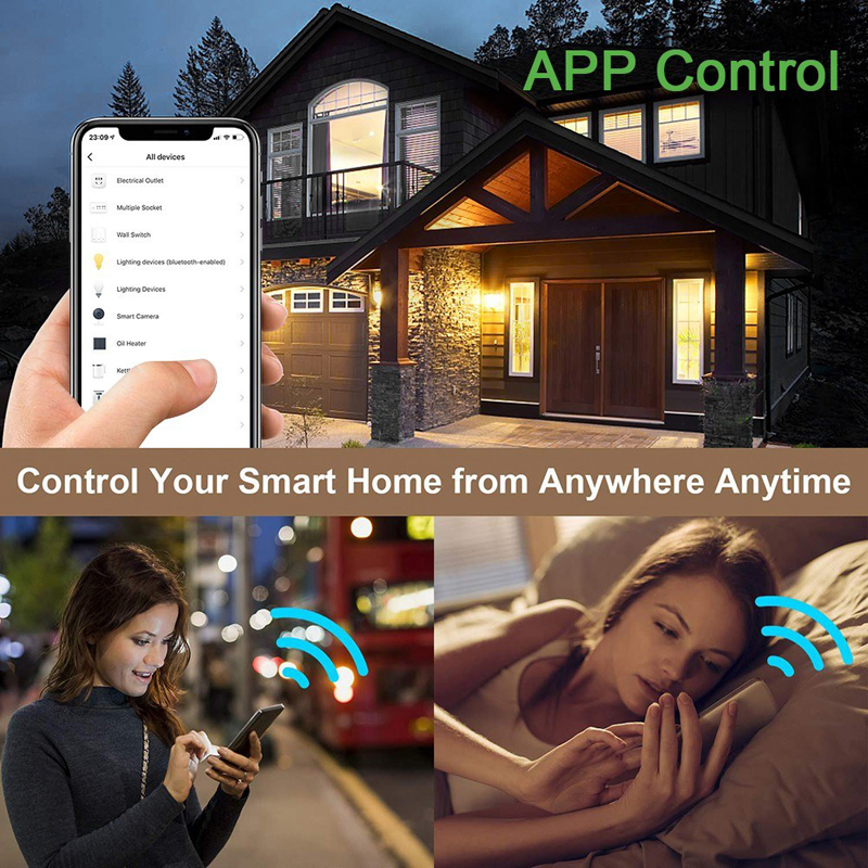 New WiFi Smart Breaker 110V 220V Universal DIY Voice Wireless Remote Control Timer for Light Switch Works with Google Home in Switches from Lights Lighting