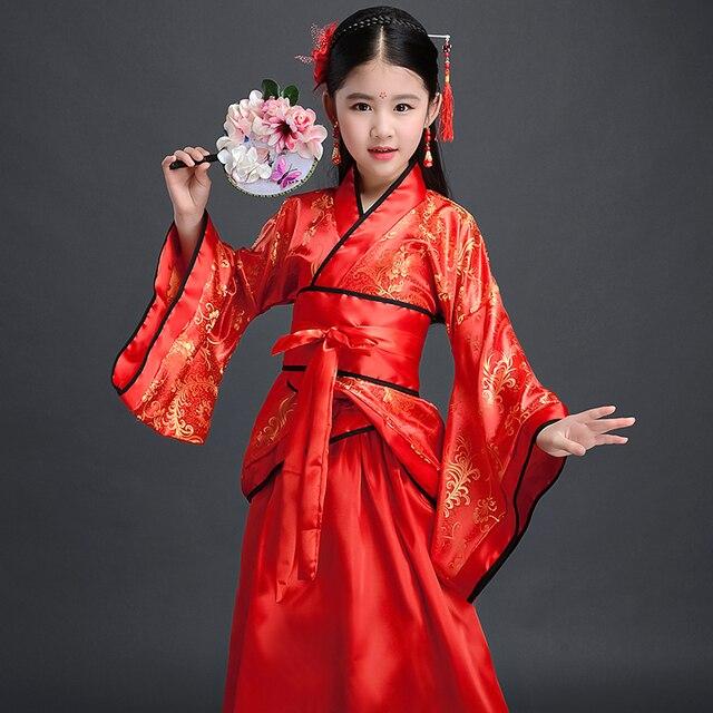 Costume Girls Children Kimono Traditional Vintage Ethnic Fan Students Chorus Dance Costume Japanese Yukata Kimono Style 2