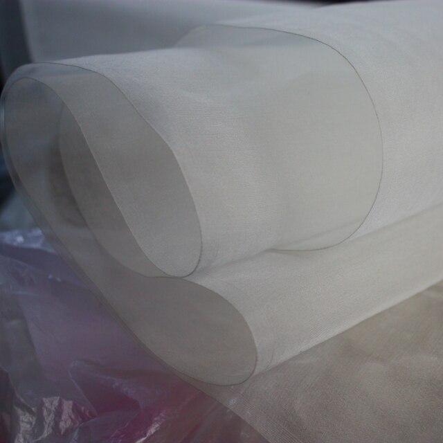 Natürliche Weiß 100% Mulberry Silk Organza Stoff Gaze Tecido Meter