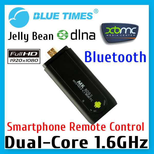 Bluetimes MK809 II Dual Core Bluetooth Android 4.2 Mini PC Dongle Stick Smart TV Box XBMC Media Player RK3066 Free Shipping