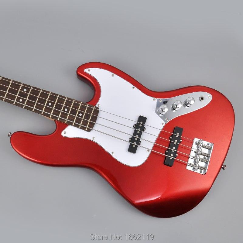 buy shengque china custom shop 4 strings jazz bass guitar metal red color. Black Bedroom Furniture Sets. Home Design Ideas