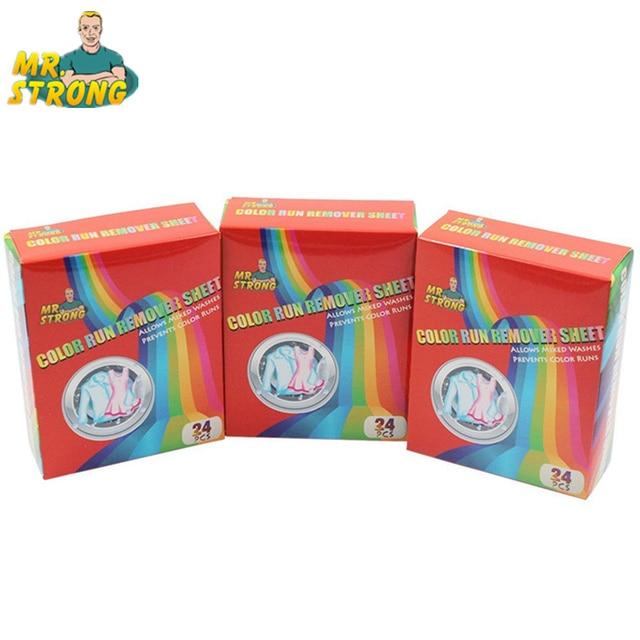 3 scatole/Lotto di Colore Run Rimuovere Copriletto Lavatrice Anti Tinti di Color