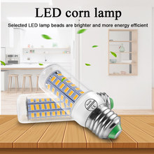 E14 LED Lamp Spotlight E27 Lampada LED Bulb 220V SMD5730 Energy Saving Corn Bulb Chandelier Candle LED Light For Home Lighting