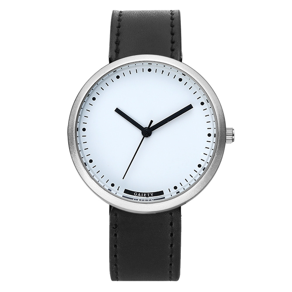 Reloj hombre marca де lujo 2017 Модные Мужские часы Бизнес Кожаный Ремешок Кварцевый Спорт Наручные Часы Relogio Masculino