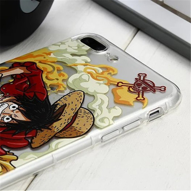 One Piece Luffy Roronoa Soft TPU Back Cover Case For Coque iPhone 7 7plus 6 6s 6Plus 6plus