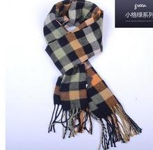 2016 Korean fashion shawl Europe Plaid font b Scarves b font font b men b font