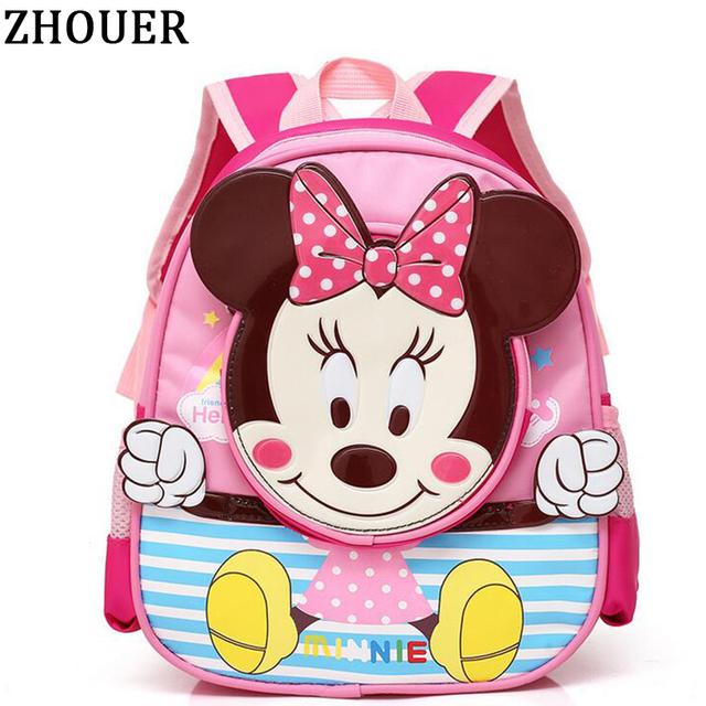 cac8e1d61456 New Minnie Mickey Backpacks Cute School Bags for Girls and Boy Cartoon Preschool  Kindergarten Backpacks Kids Bag Schoolbag MA19