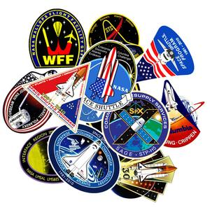 Image 2 - 94Pcs PVC Waterproof Sticker Toys Aerospace Theme Decal for Phone Laptop Luggage Bicycle Guitar Moto Adhesive Gift Stickers