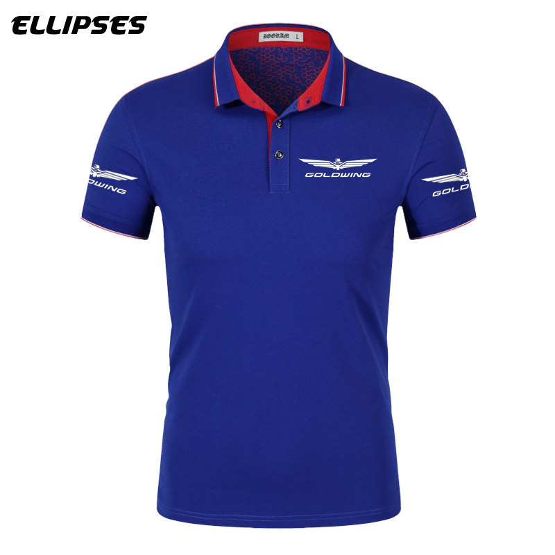 Goldwing GL1800 1500   Polo   Shirt Summer Goldwing Logo   Polo   Shirt Short Sleeve Male Cotton Turn-down Collar Tops   Polo   Shirt Men