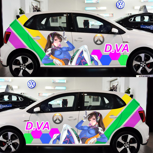 Acg drift sticker overwatch game stickers d va car door stickers paint racing decal auto