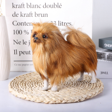 new simulation dog toy polyethylene & furs natural colour Pomeranian doll gift Forest party decoration Home