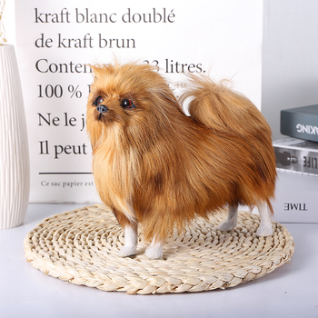 цена на new simulation dog toy polyethylene & furs natural colour Pomeranian doll gift Forest party decoration Home decoration