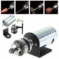 Mini Hand Bench Drill Lathe Press 555 Motor W 1 8 Chuck Mounting Bracket 12 36V