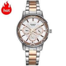 CASIO Часы Модные Простые указатель водонепроницаемые часы кварцевые женские LTP-2087RG-7A LTP-2087SG-7A LTP-2087D-1A LTP-2087G-4A