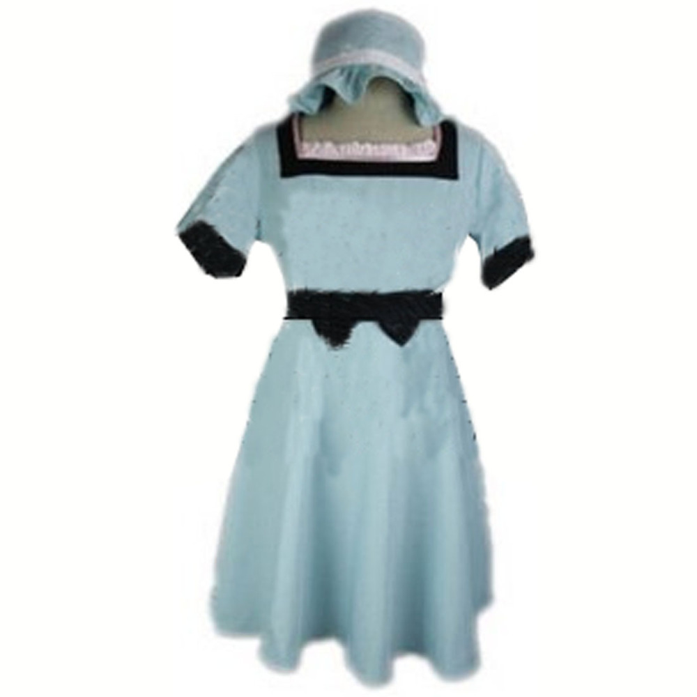 2017 Steins Gate Mayuri Shiina dress+hat Cosplay Costume Custom-made Any Size