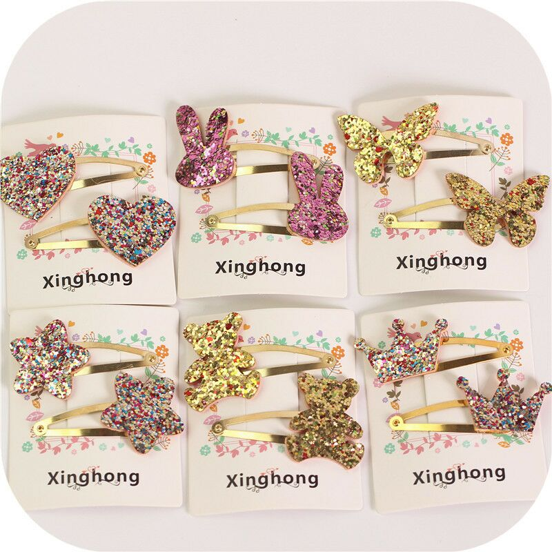 2pc cute hair clip bobby pins kids girl hairpin accessories for children hair barrette hairclip headdress   headwear   hairgrip snap