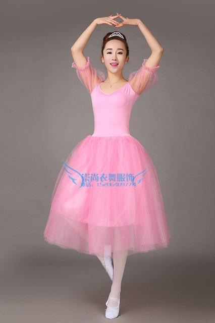 Adult female pink ballet skirt Swan Lake costumes puff sleeves ballet skirt professional dance skirt