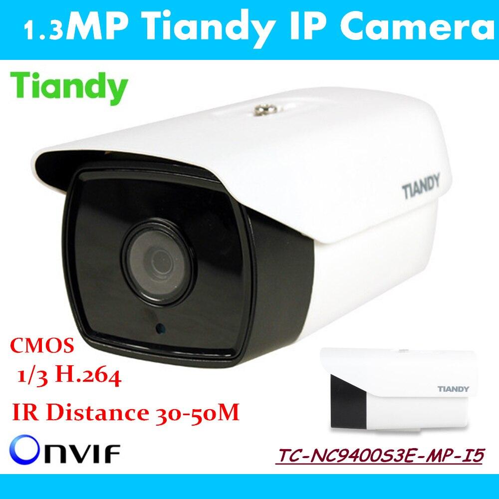 ФОТО New Tiandy IP Camera TC-NC9400S3E-MP-I5 English Version 960P 1.3MP Outdoor Security ONVIF Waterproof Night Vision IP Cam