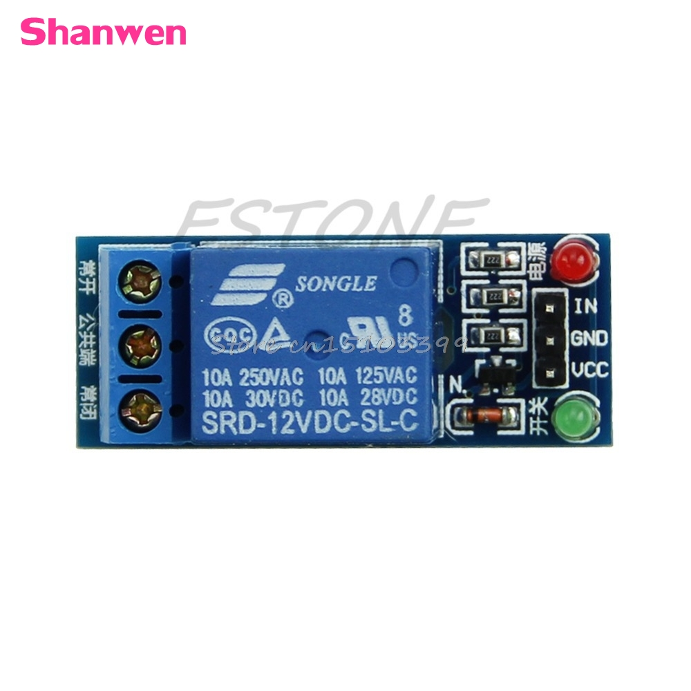 1-Channel 12V Relay Module Expansion Board Low Level Trigger Relays #G205M# Best Quality 1 channel 5v relay module high level trigger expansion board for arduino relays