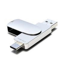 Metal USB Flash Drive 32GB OTG Pen Drive 3.0 Type C Memory U Stick Memory Mini Pendrive 32GB 64GB For Android Smart Phone недорого