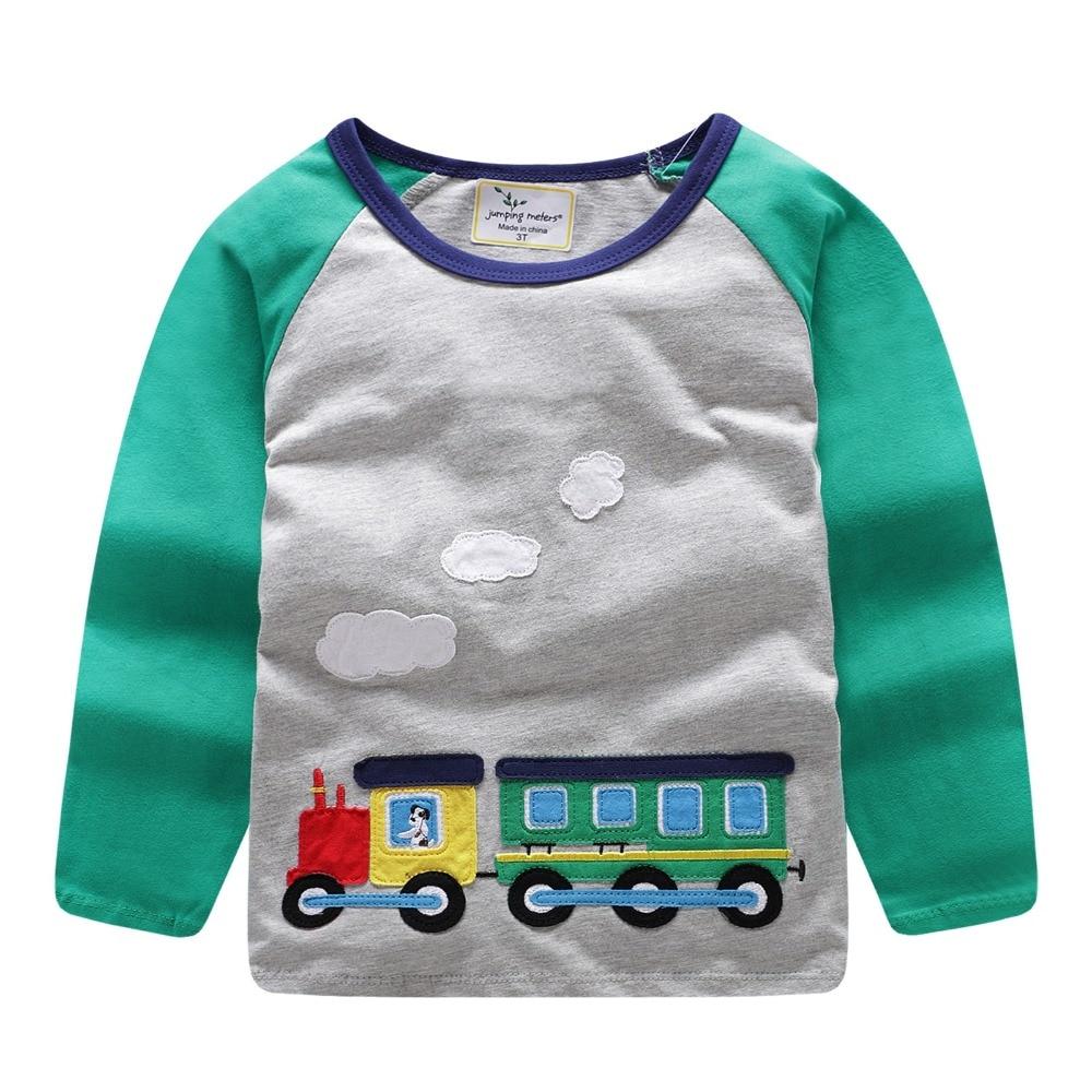d4d407b1dbb27c Jumping meters Brand 2018 Long Sleeve Autumn Spring T shirt For baby kids  Boys girls Cartoon