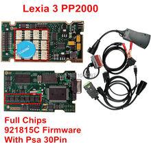 Lo nuevo Diagbox 7.83 Herramienta de Diagnóstico de Lexia 3 PP2000 Lexia3 V48 V25 PP2000 Chips Completa 921815C/Firmware + Psa 30Pin DHL Libre