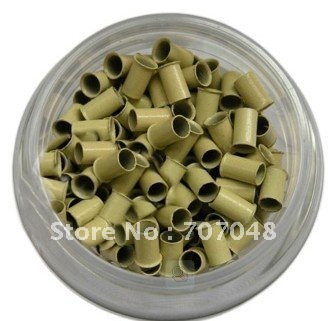 High quality copper  Micro Beads Link 1000 pieces per bottle   BLOND COLOR
