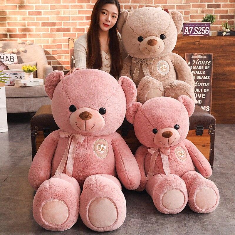 Ours en peluche géant Kawaii grand 100 cm peluche douce en peluche grand ours embrasser enfants poupée petite amie cadeau d'anniversaire
