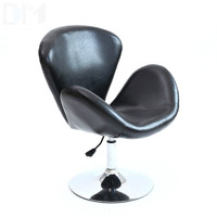 High Quality PU Material Short Swivel Lifting Chair Ergonomic Bar Stool Office/Waiting Room/Reception/Computer Chair cadeira