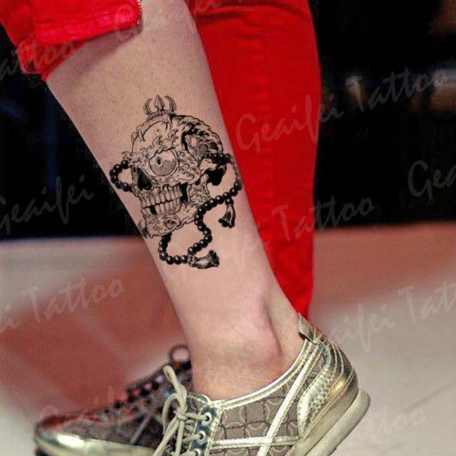 Temporary Tattoo Stickers Waterproof Women Men Sexy Products Skull