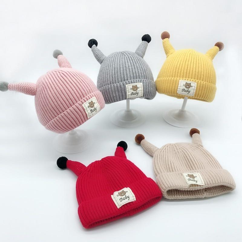 Bekleidung Zubehör Kreative Design Niedlichen Kinder Gestrickte Hüte Häkeln Kinder Neuheit Winter Warme Hut Mädchen Jungen Cap Caps Casquette Kopfbedeckungen Für Herren