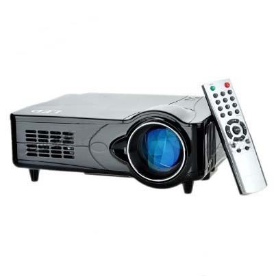 "D9HB 5"" LCD LED Projector with HDMI / VGA / Scart / YPbPr / TV / S-Video - Black"