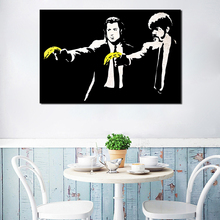 Banksy Pulp Fiction Wallpaper Wall Art Canvas Poster And Print Painting Decorative Picture For Bedroom Home Decor Artwork