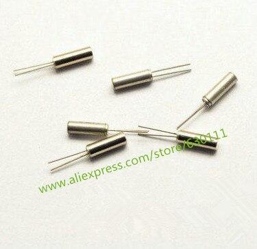 Free shipping 1000pcs 32 768KHZ 32 768k Crystal Cylender 3 8 mm Oscillator