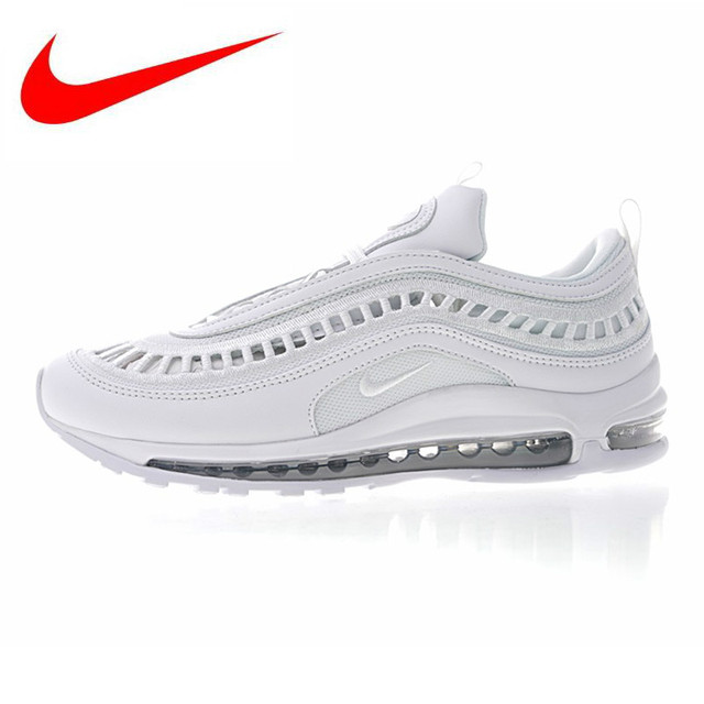 newest collection efbc5 6121b Nike Air Max 97 Ultra  17 SI Men s and Women s Running Shoes, White,  Wear-resistant Breathable Shock Absorption AO2326 100