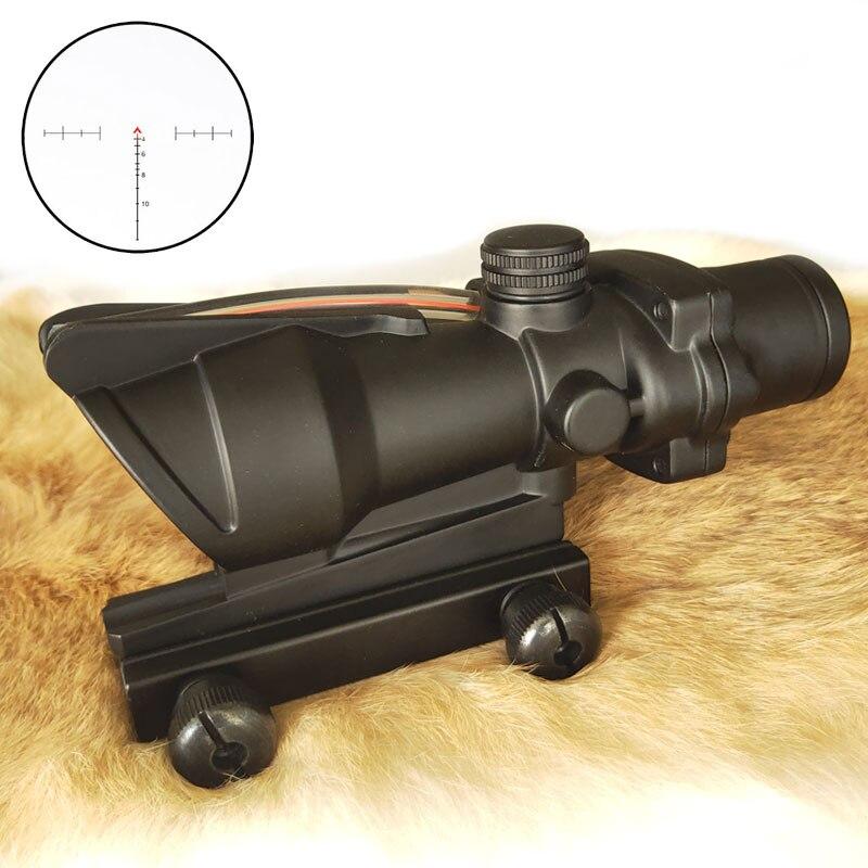 WESTHUNTER 4X32 tactique Fiber optique portée rouge vert éclairé verre gravé fixe 4 puissance Compact lunette de visée de chasse