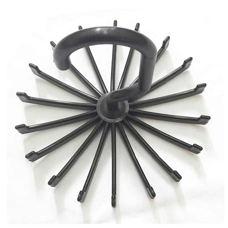 Soportes de almacenamiento soporte de gancho giratorio 18 cinturones COLGADOR PARA bufandas soporte de plástico para baño SKD88