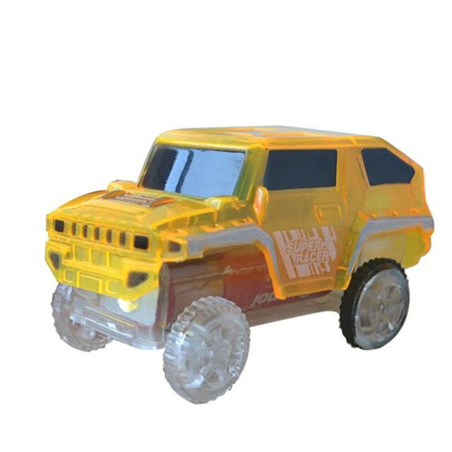 Eletrônica Do Carro Especial para Brinquedos Com Luzes Piscando Pista Mágica de Plástico Educacional Fun Presente Transporte da gota