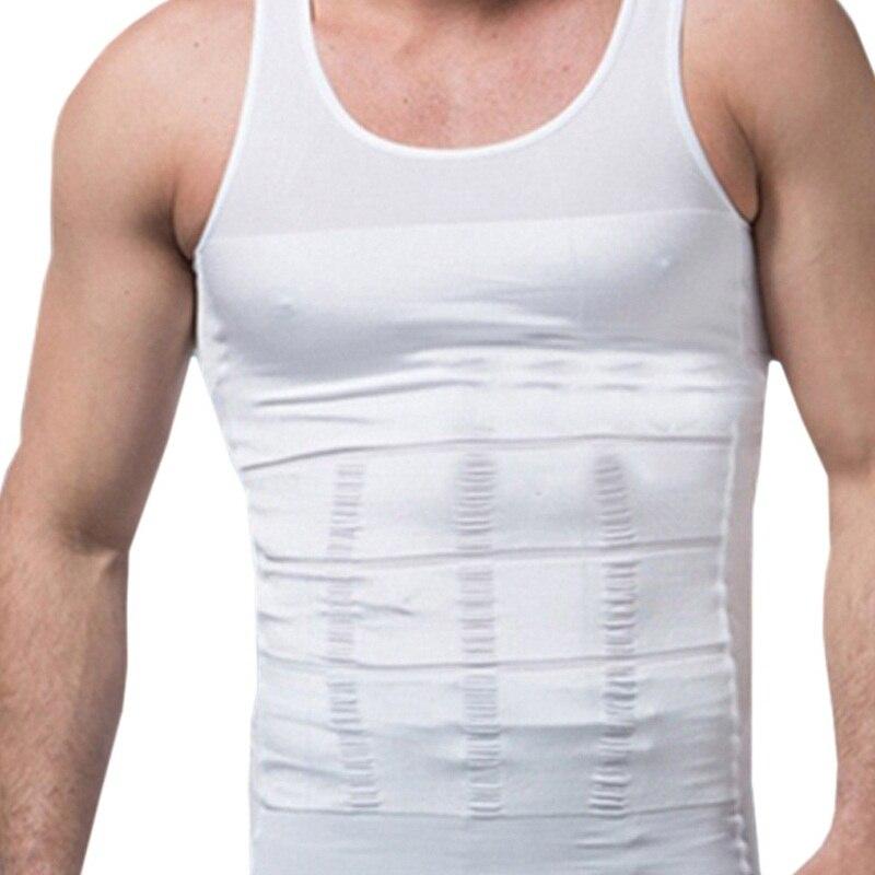 Hot Vest Body Slimming Belt Bodysuit Shapewear Waist Control Tops Girdle Shirt Tummy Trimmer T Shirt Plus Size Men Shaper