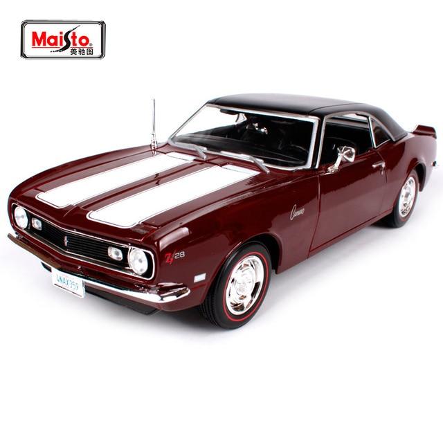 Us 583 20 Offmaisto 118 1968 Chvrolet Camaro Z28 Muscle Altes Auto Modell Diecast Modell Auto Spielzeug Neue In Box Freies Verschiffen 31685 In