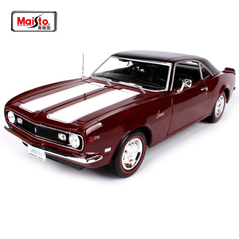 Maisto 1:18 1968 Chvrolet Camaro Z/28 Muscle Old Car model Diecast Model Car Toy New In Box Free Shipping 31685 revell model 1 25 scale 85 7457 69 camaro z 28 rs plastic model kit