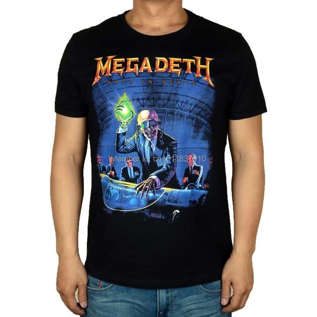 9e173048286f9 13 designs Harajuku Streetwear Megadeth Camiseta Rock Brand Cotton shirt 3D  skull Bone Tee Hardrock heavy thrash Metal Rocker