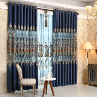 European Style Stitching Embroidered Curtain Living Room / Bedroom Blanket Tulle, Decoration / Home Decoration