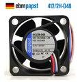 Новый вентилятор охлаждения ebmpapst PAPST 412/2H-048 4020 12В 0.1A 3 линии
