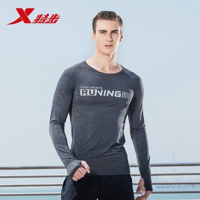 882129039119 Xtep Спортивная Мужская футболка с длинными рукавами, осенняя Новая удобная Легкая спортивная одежда
