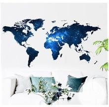 1 pcs big global planet diy world map 3d wall sticker vinyl wall sticker home decor